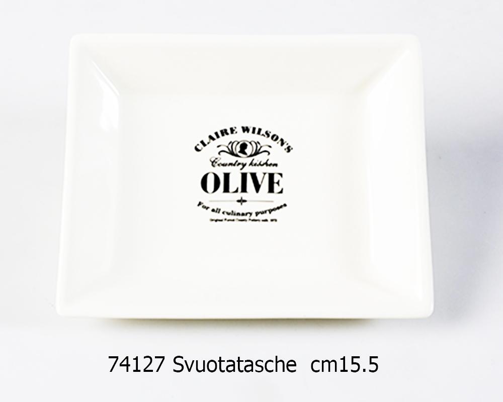 OLIVE TRAY CM.15,5 CREAM+BLACK A.D.